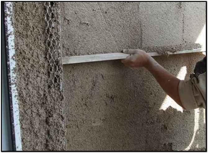 Штукатурка стен своими руками арболита