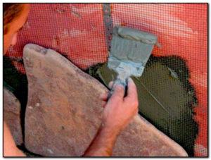 отделка пеноблоков природным камнем