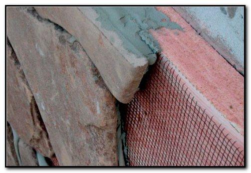 отделка пеноблоков натуральным камнем