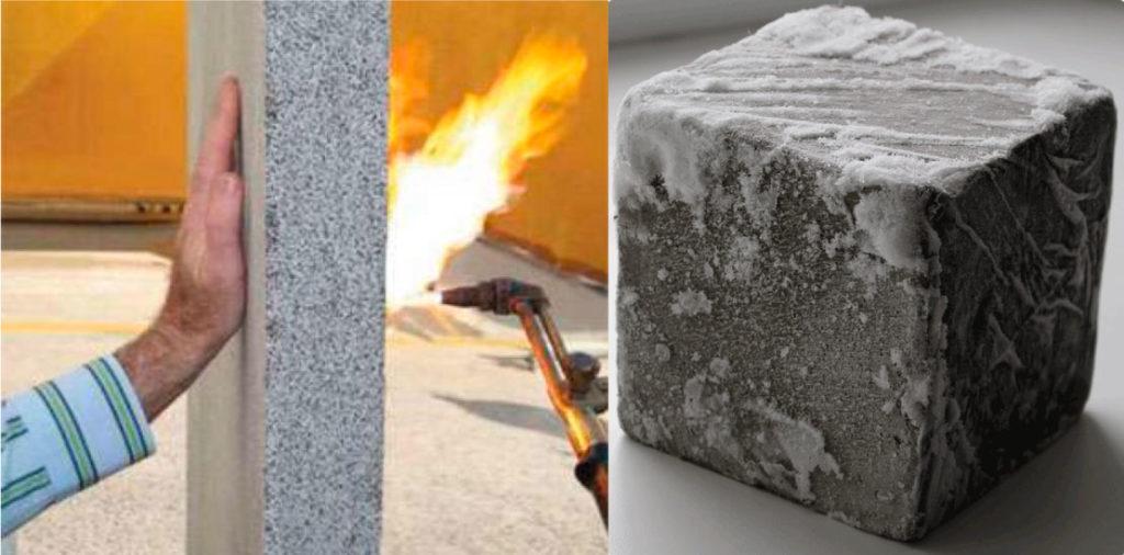 Плюсы пенобетона в морозостойкости и огнестойкости