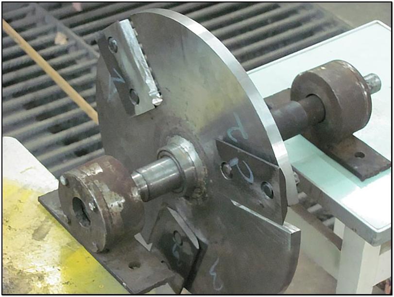 Рубильный диск с ножами