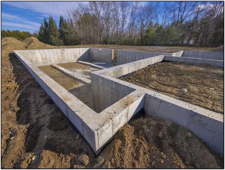 ленточный фундамент под дом из арболита